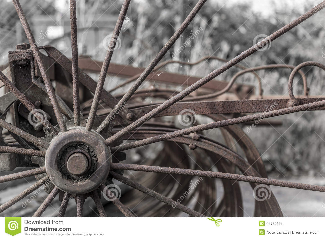 Close Up Of Rusty Old Farm Machinery Stock Photo   Image  45739165