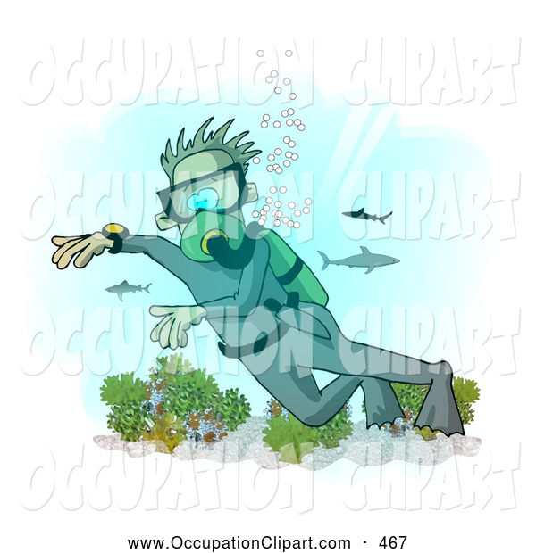 Deep Sea Diver Clip Art