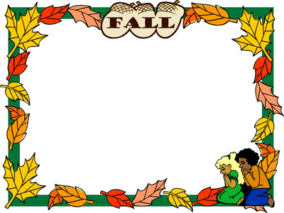 Fall Template Clipart This Fall Template With Colored Leaves Around