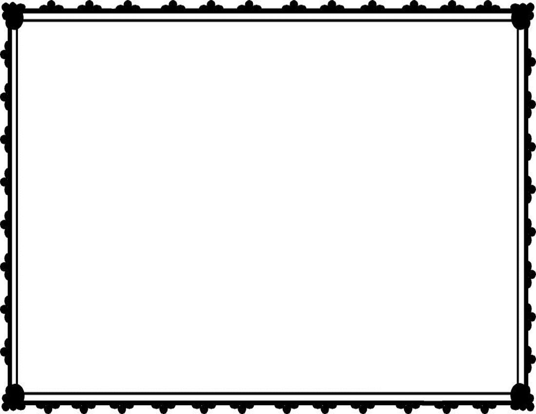 Plain Borders Frame Clipart - Clipart Kid