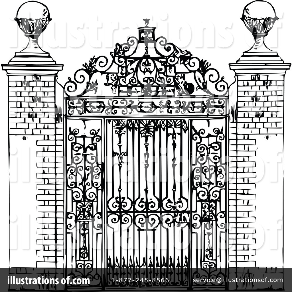 Gate Clipart  1113742 By Prawny Vintage   Royalty Free  Rf  Stock