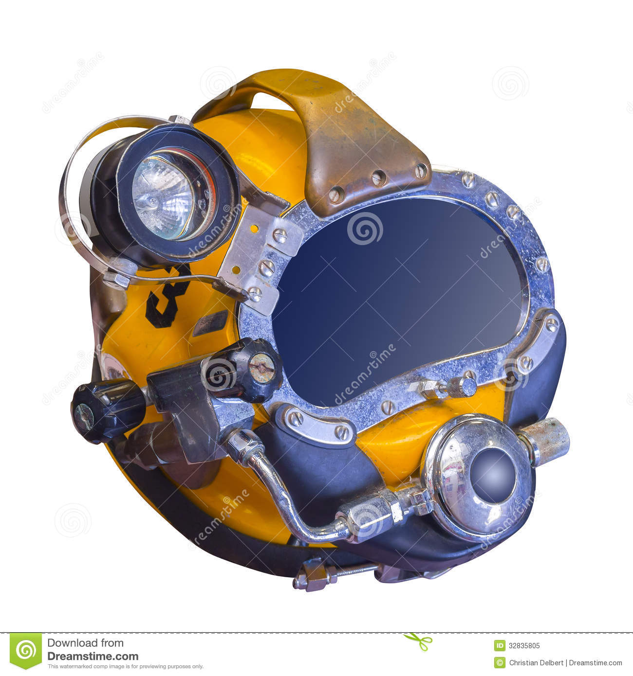 Modern Deep Sea Diving Helmet Used To Go Down To 1500 Feet