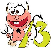 Number thirteen clipart