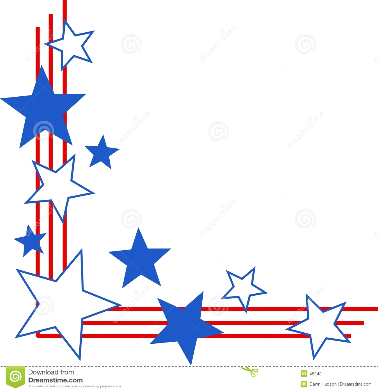 Patriotic Border Royalty Free Stock Photos   Image  45848