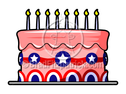 Patriotic Cake Clip Art   4th Of July Cake Clipart   Cartooon