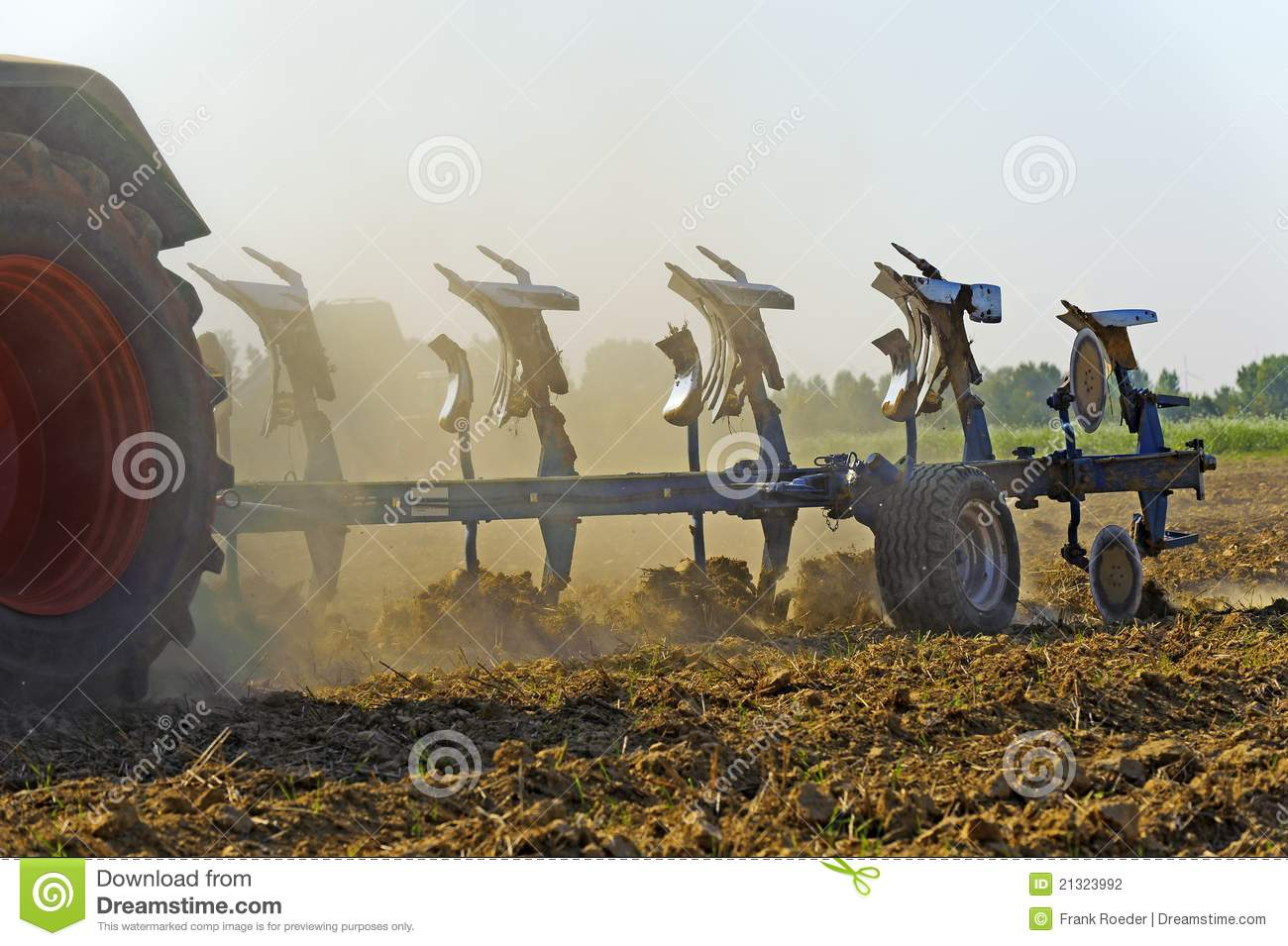 Plow Behind A Tractor Stock Photography   Image  21323992