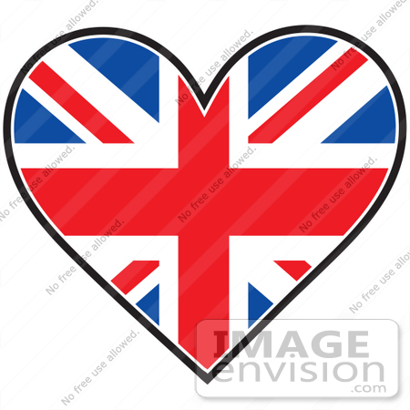Union Clipart 41378 Clip Art Graphic Of A Union Jack Heart Flag By