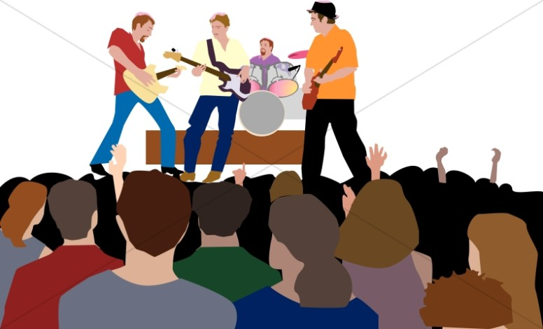 Youth Rock Concert   Worship Clipart
