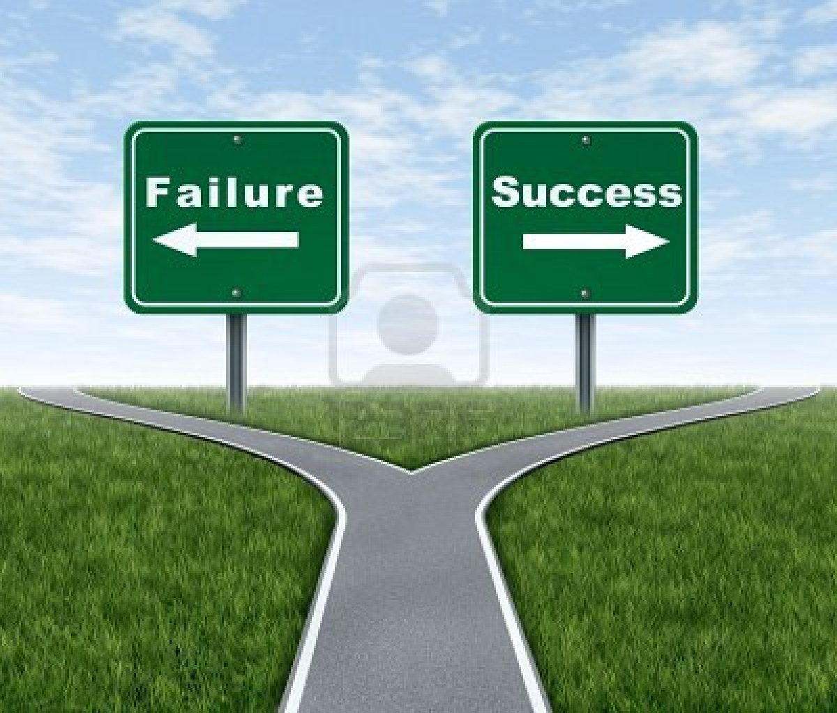 10976410 Success And Failure Symbol Represented By A Forked Road With