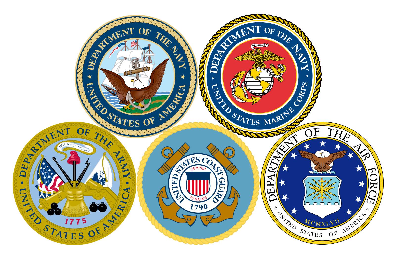 Armed Services Emblems Clip Art
