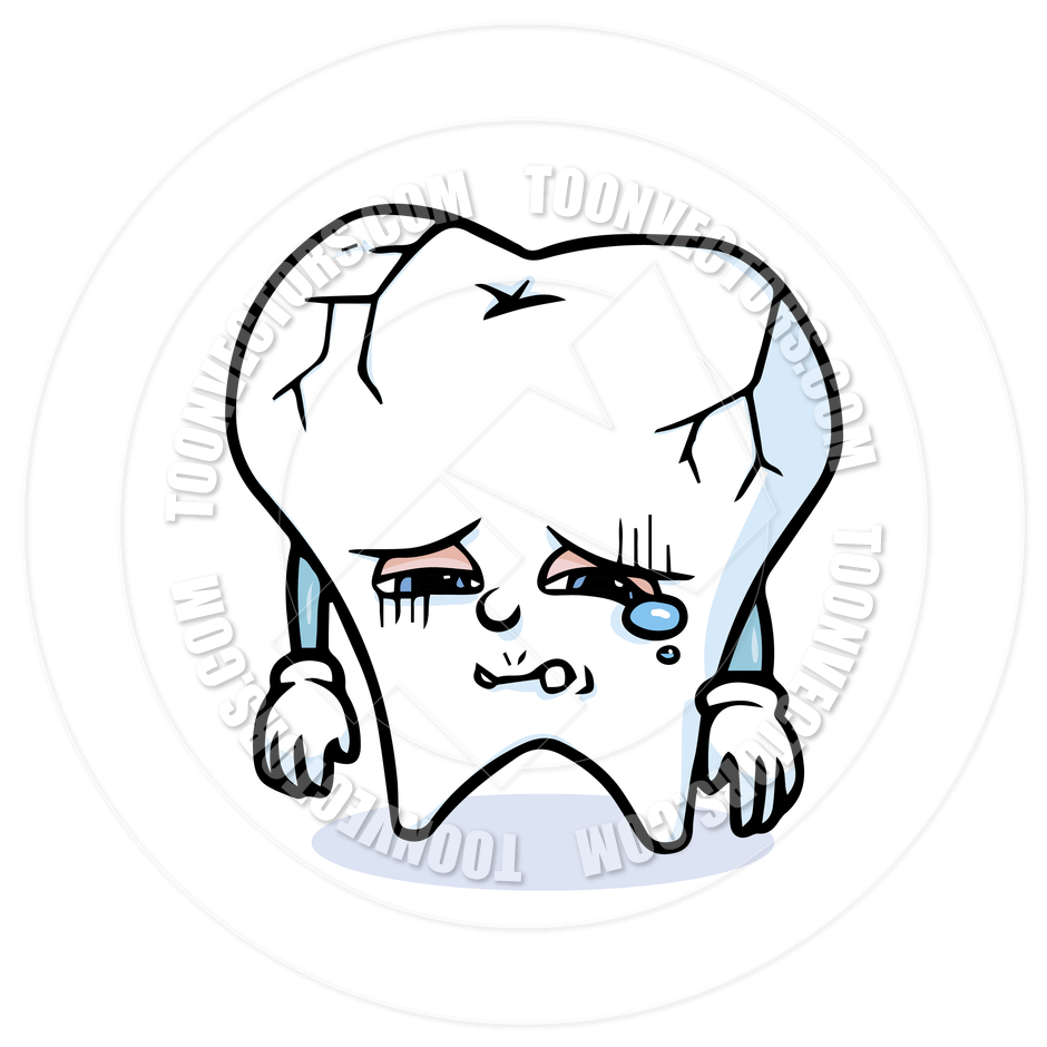 Cartoon Tooth Sad By Totallypic Com   Toon Vectors Eps  36793