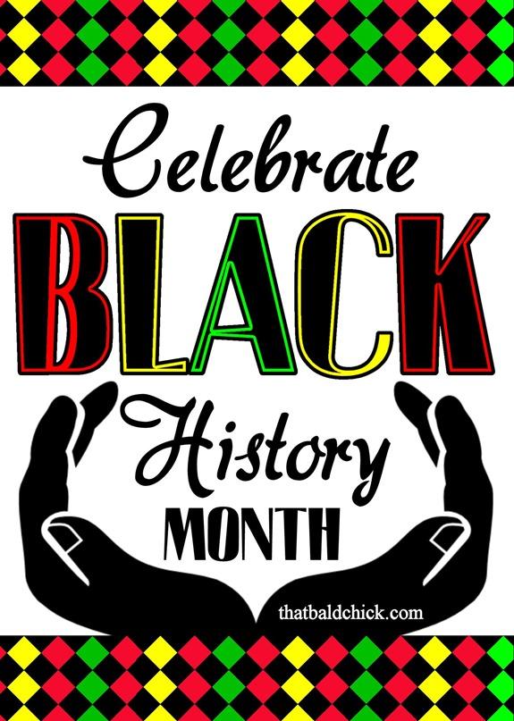 Black History Month Border Celebrate black history month that bald ...