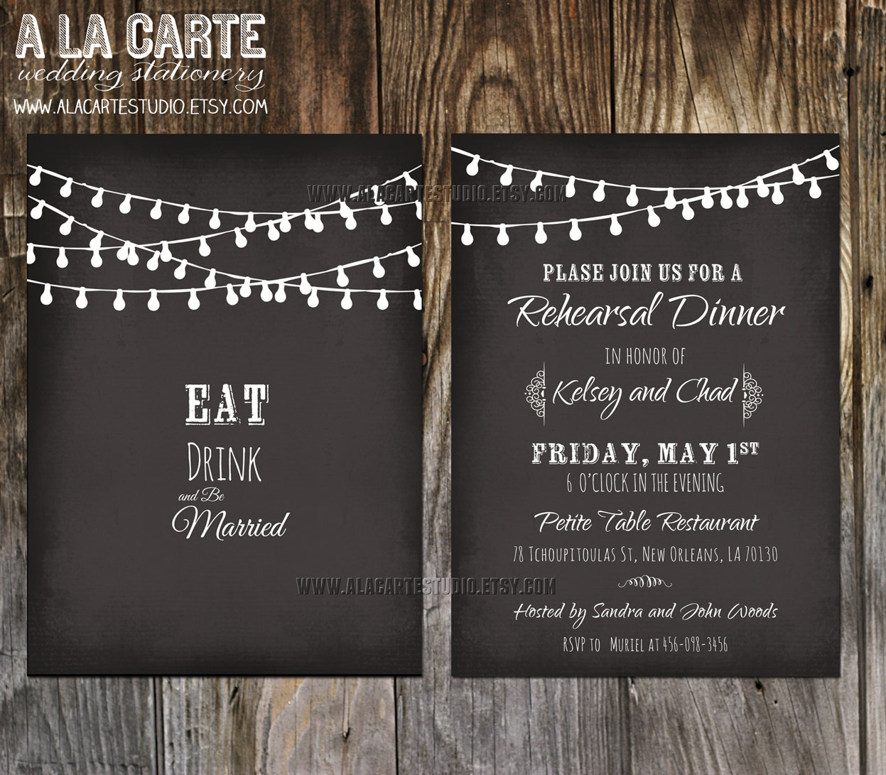 Chalkboard Wedding Invitations Template   Best Template Collection
