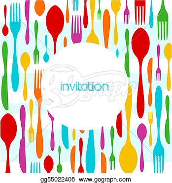 Colorful Pattern Invitation  Clipart Drawing Gg55022408   Gograph