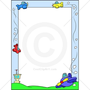 Com   Clip Art For  Borders Plane Airport   Image Id 139084