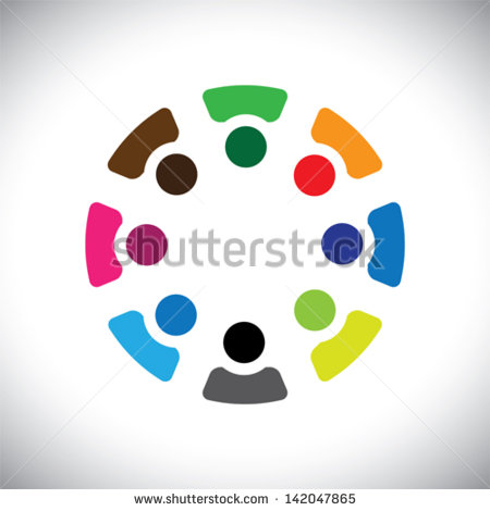 Concept Vector Graphic  Abstract Colorful Company Employees