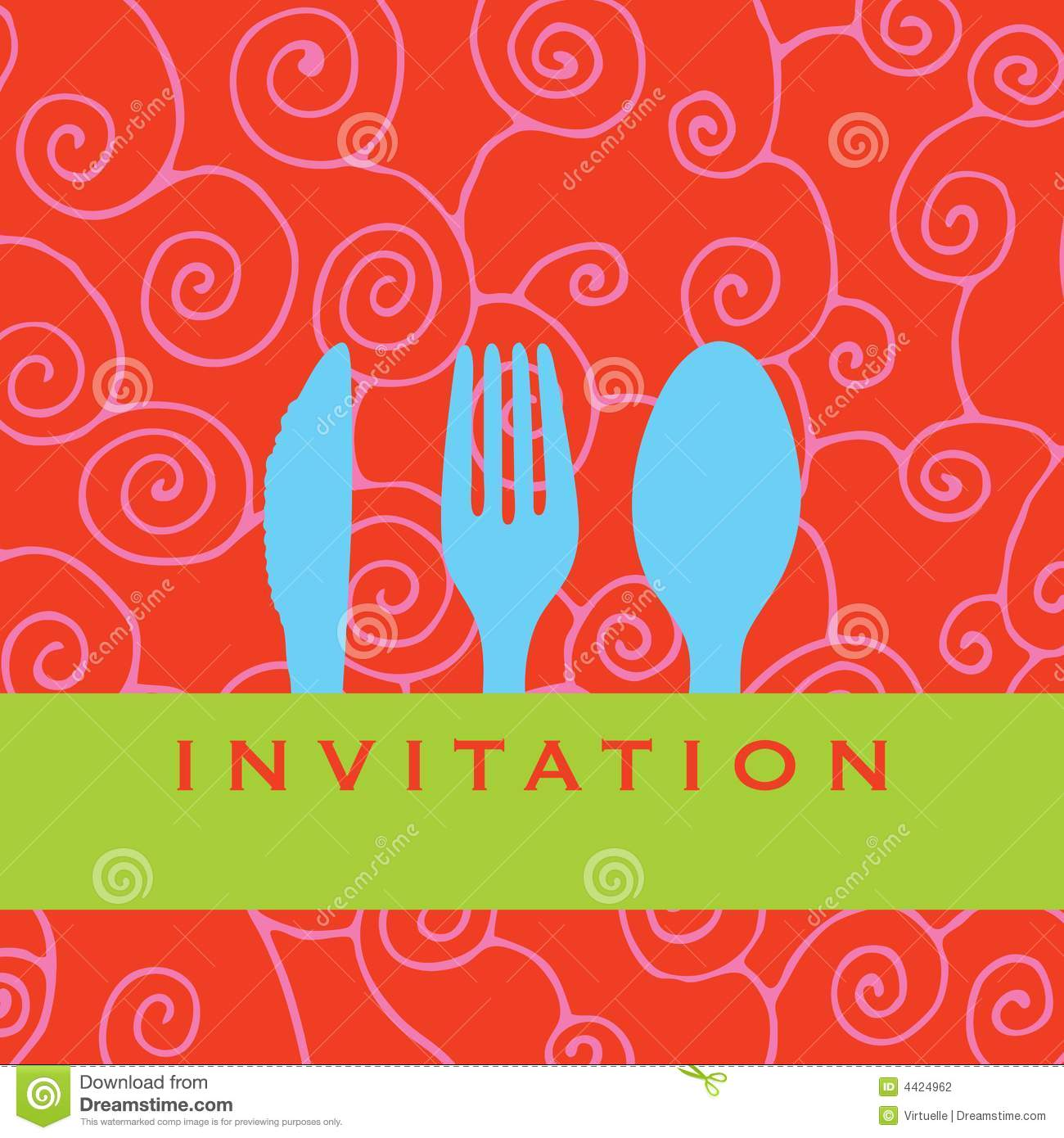 Dinner Invitation Stock Photography   Image  4424962