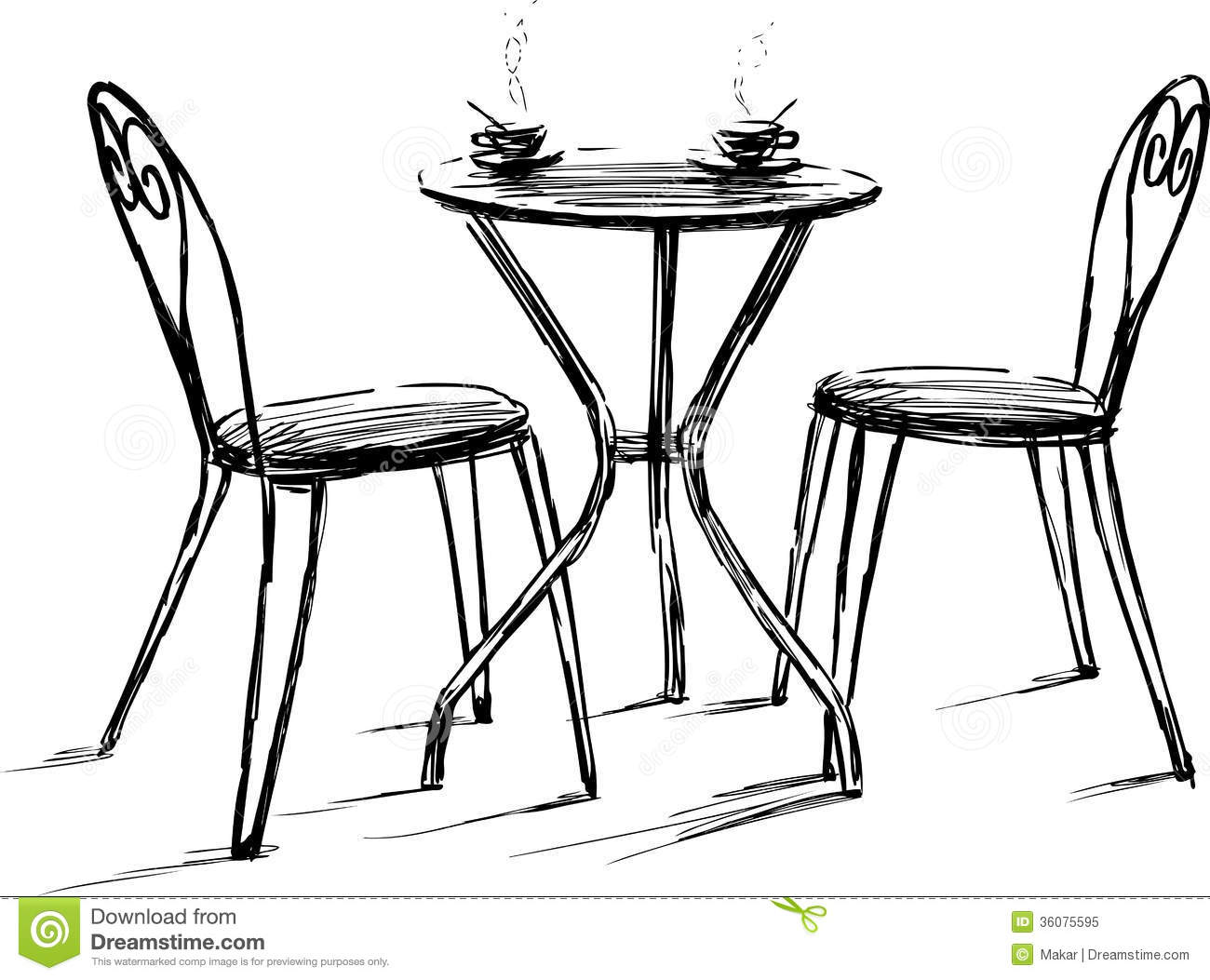 Cafe Table Clipart - Clipart Suggest