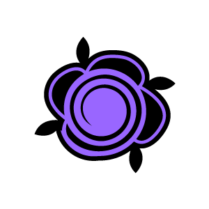 Of Flower Clipart   Purple Swirl Painted Rose With White Background