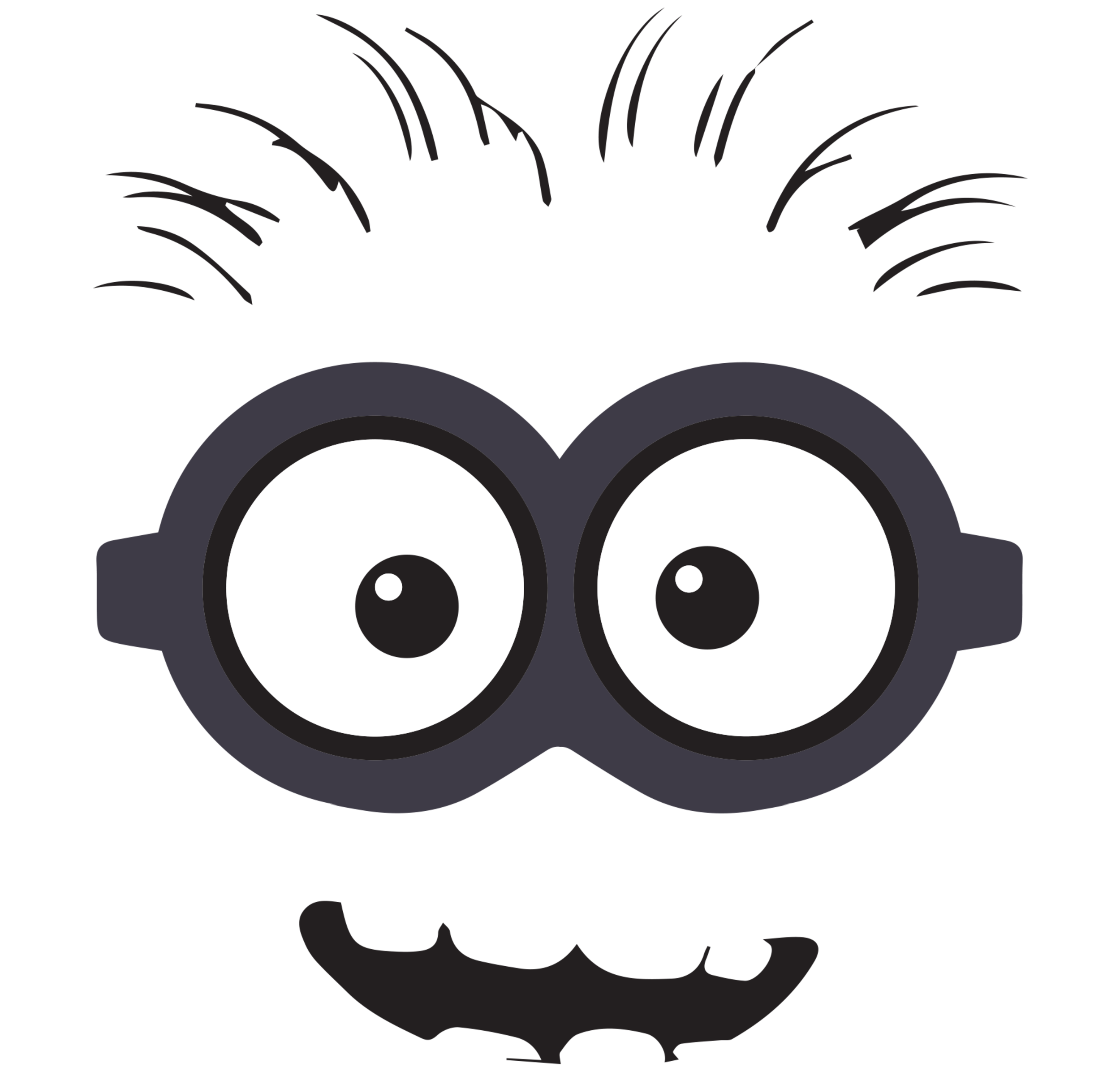 Minion clipart clipart suggest for Minion mask template