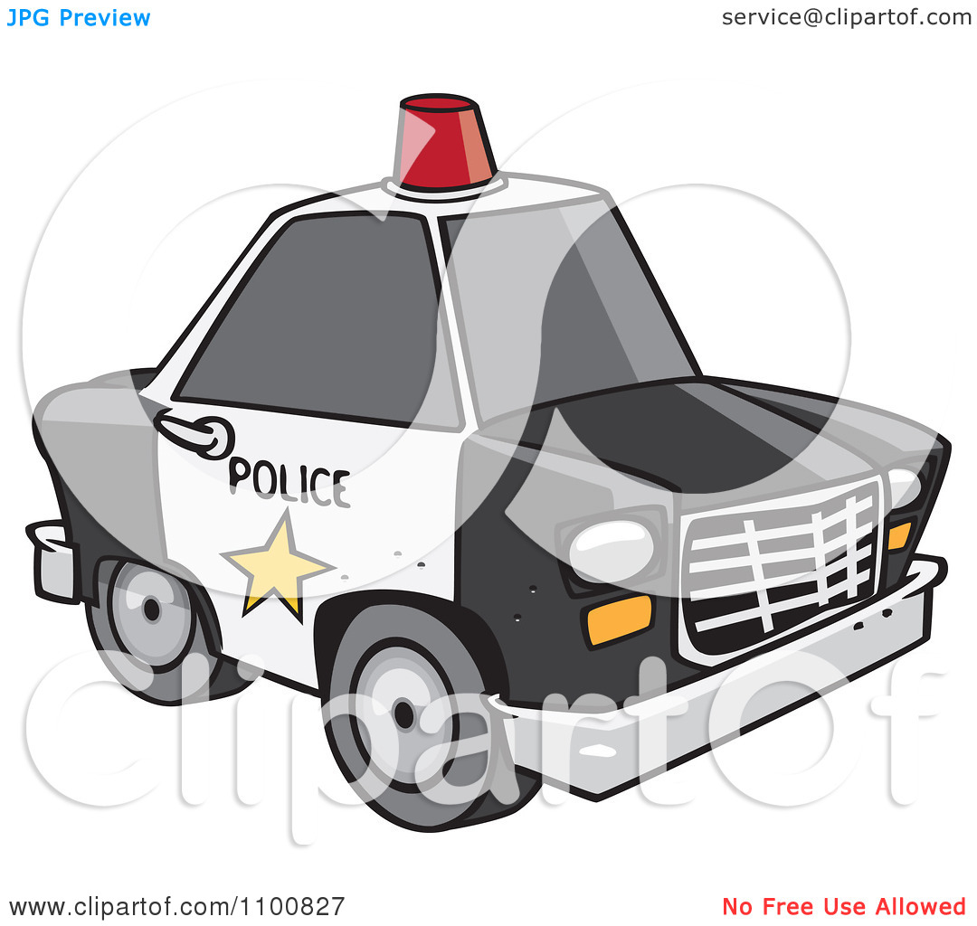 Police Car And Police Man Clipart