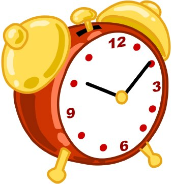 Clip Art Of A Red Analog Alarm Clock With Yellow Bells