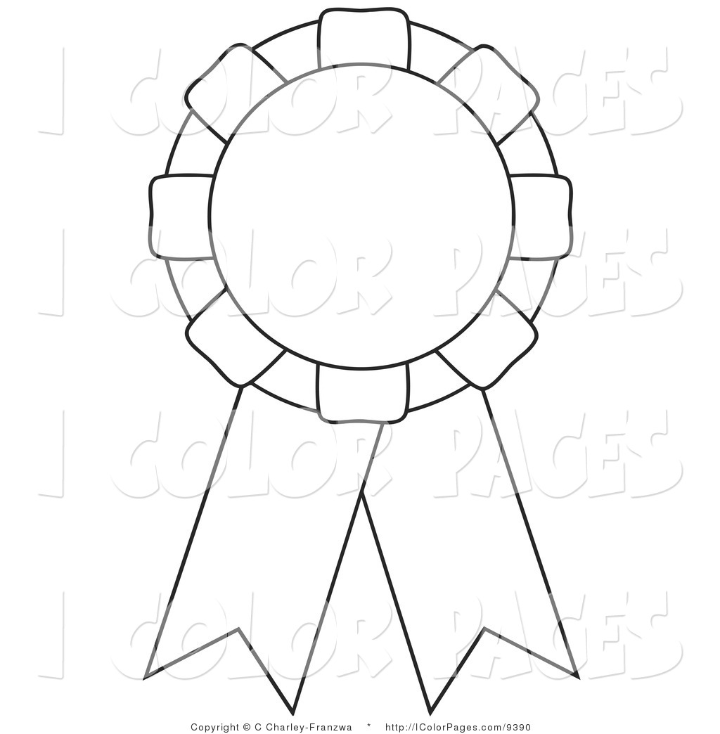 Coloring Page Of A Coloring Page Of An Award Ribbon By C Charley