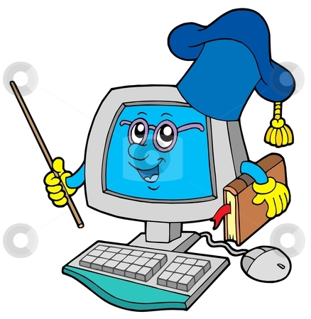 Student At Computer Clipart - Clipart Kid