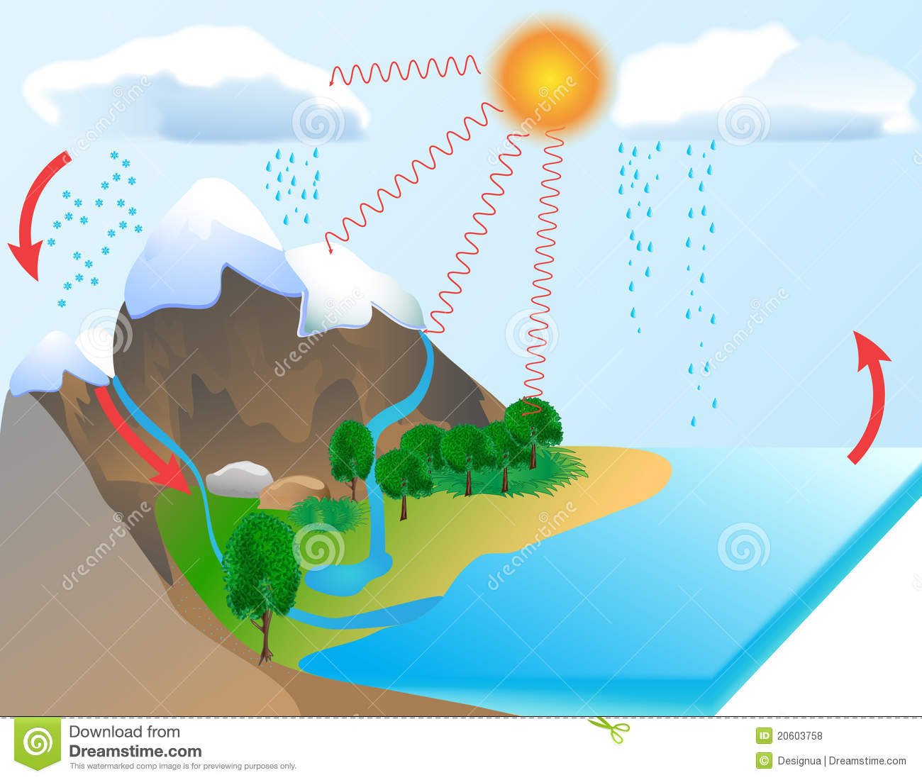 Evaporation Clipart Water Cycle Royalty Free Stock