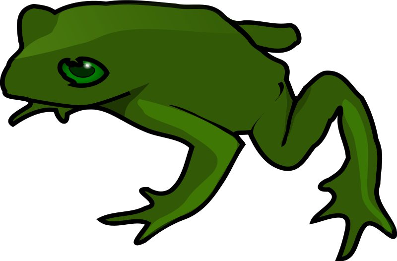Free Simple Green Frog Clip Art