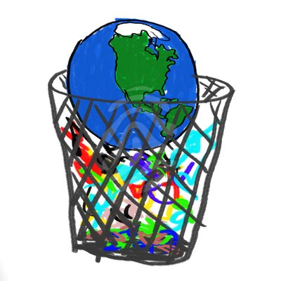 Garbage Clipart Earth In Garbage Earth Garbage Clipart 83320069 Jpg
