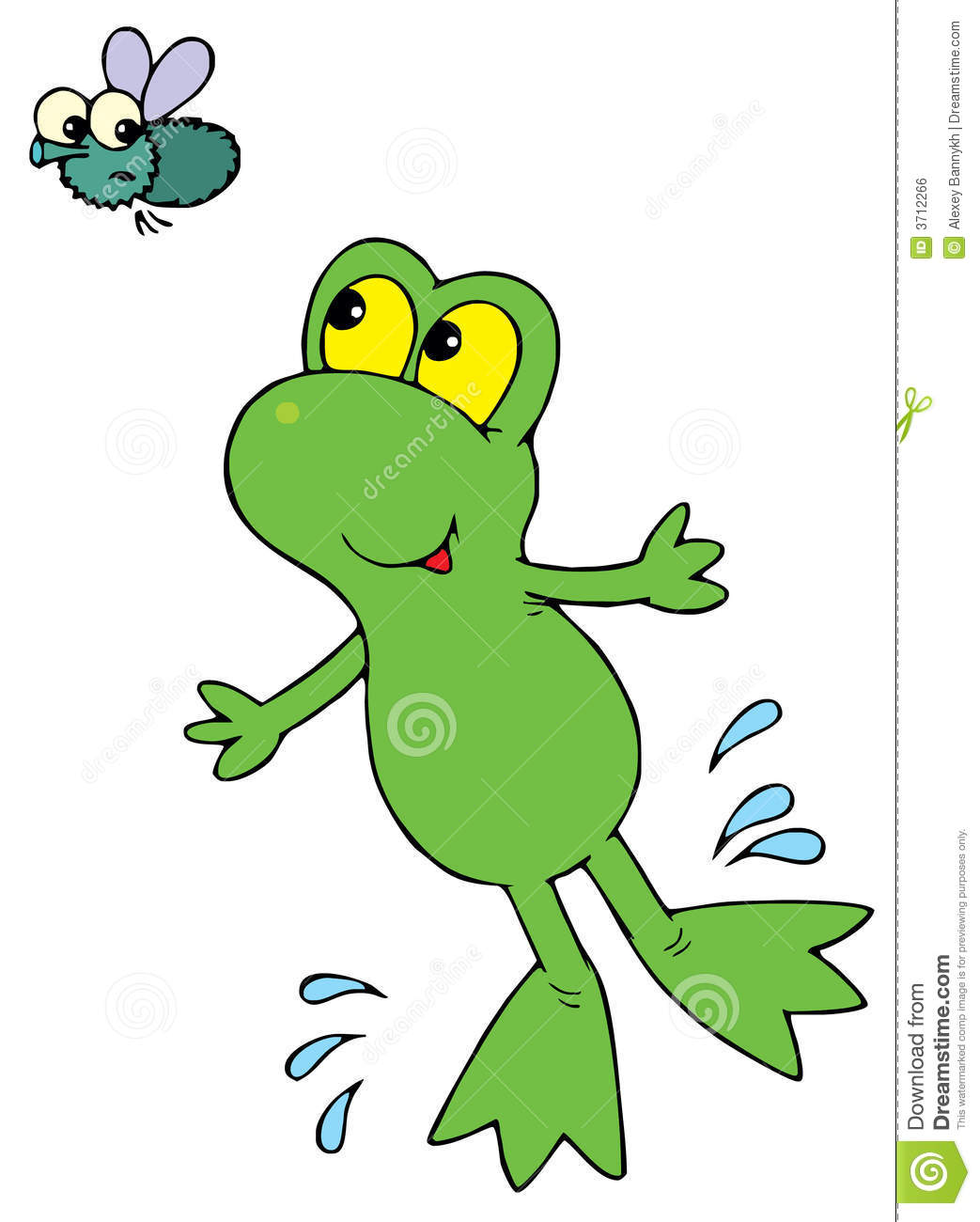 Green Frog  Vector Clip Art  Royalty Free Stock Image   Image  3712266