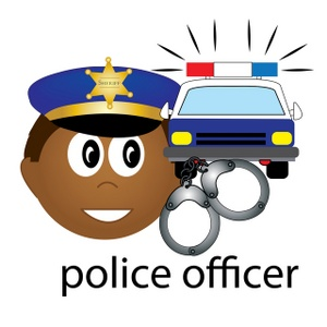 In This Occupation Icon Showing A Police Car Handcuffs And Police Man