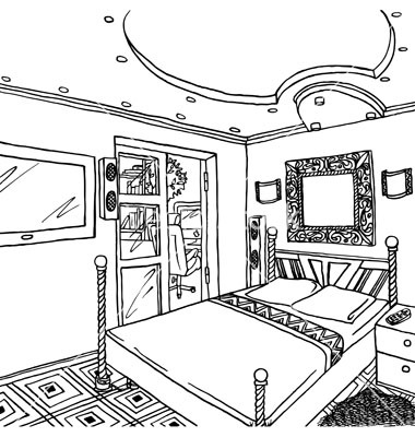 big bed pics coloring pages - photo#42