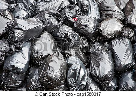 Picture Of Garbage Bags   A Pile Of Black Garbage Bags With Tons Of