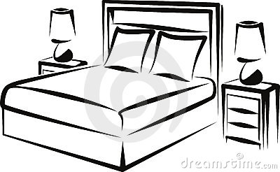 Clip Art Black And White Bedroom Clipart - Clipart Suggest
