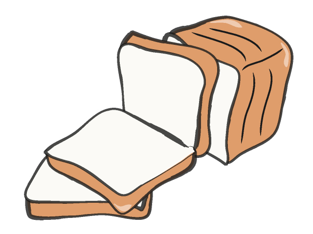 Slice Of Bread Clipart Black And White   Clipart Panda   Free Clipart
