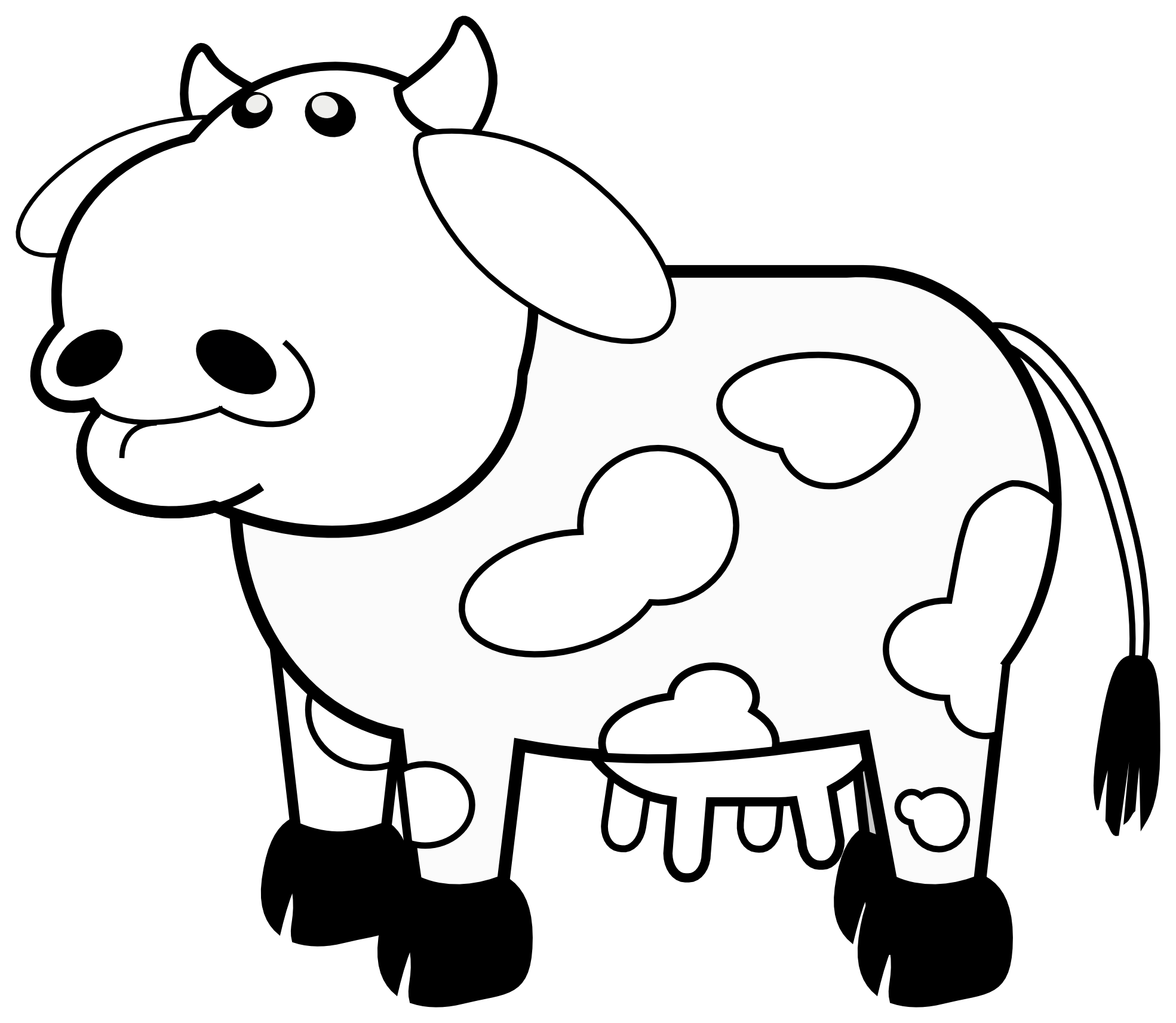 Snake Clipart Black And White Colour Cows 1 Black White Line Art Svg