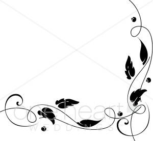 Clip Art Vine Corner Clipart - Clipart Kid