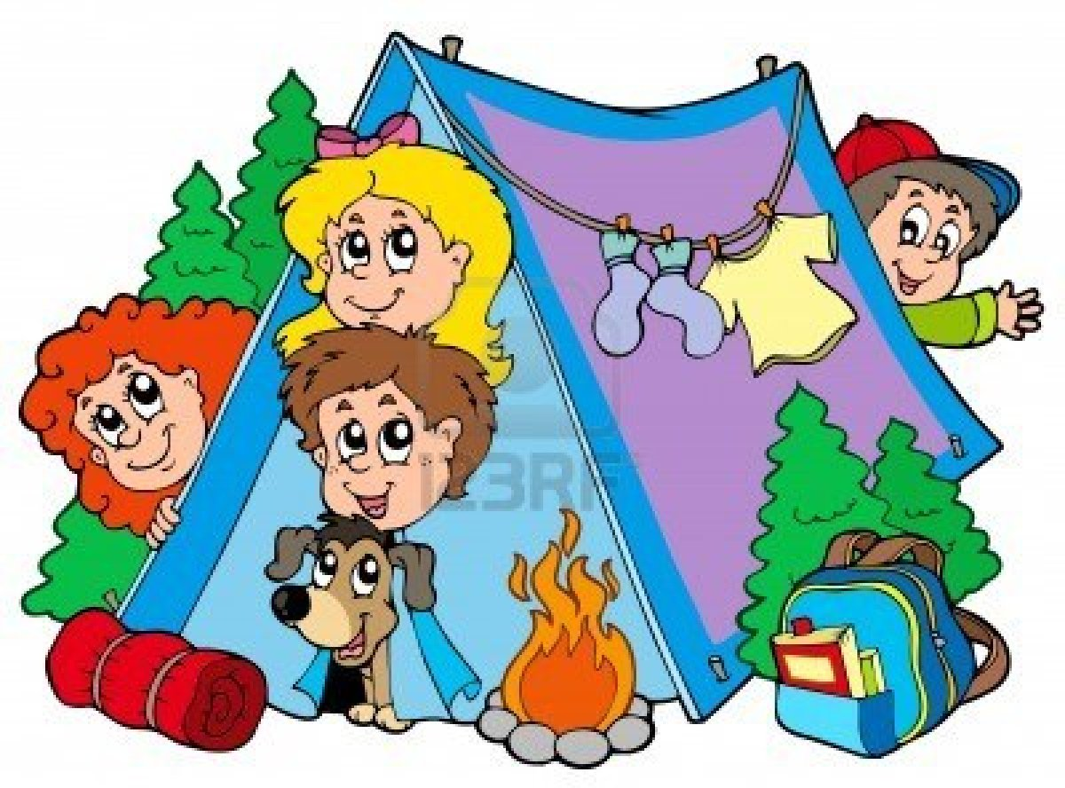 7469532 Group Of Camping Kids