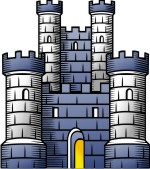 Advanced Medieval Castle   Tower Clip Art For Custom Coat Of Arms