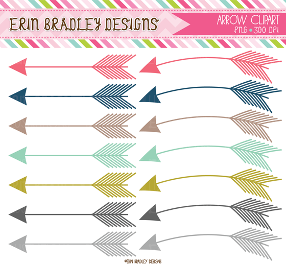 Arrow Clipart Digital Papers   50  Off Sale