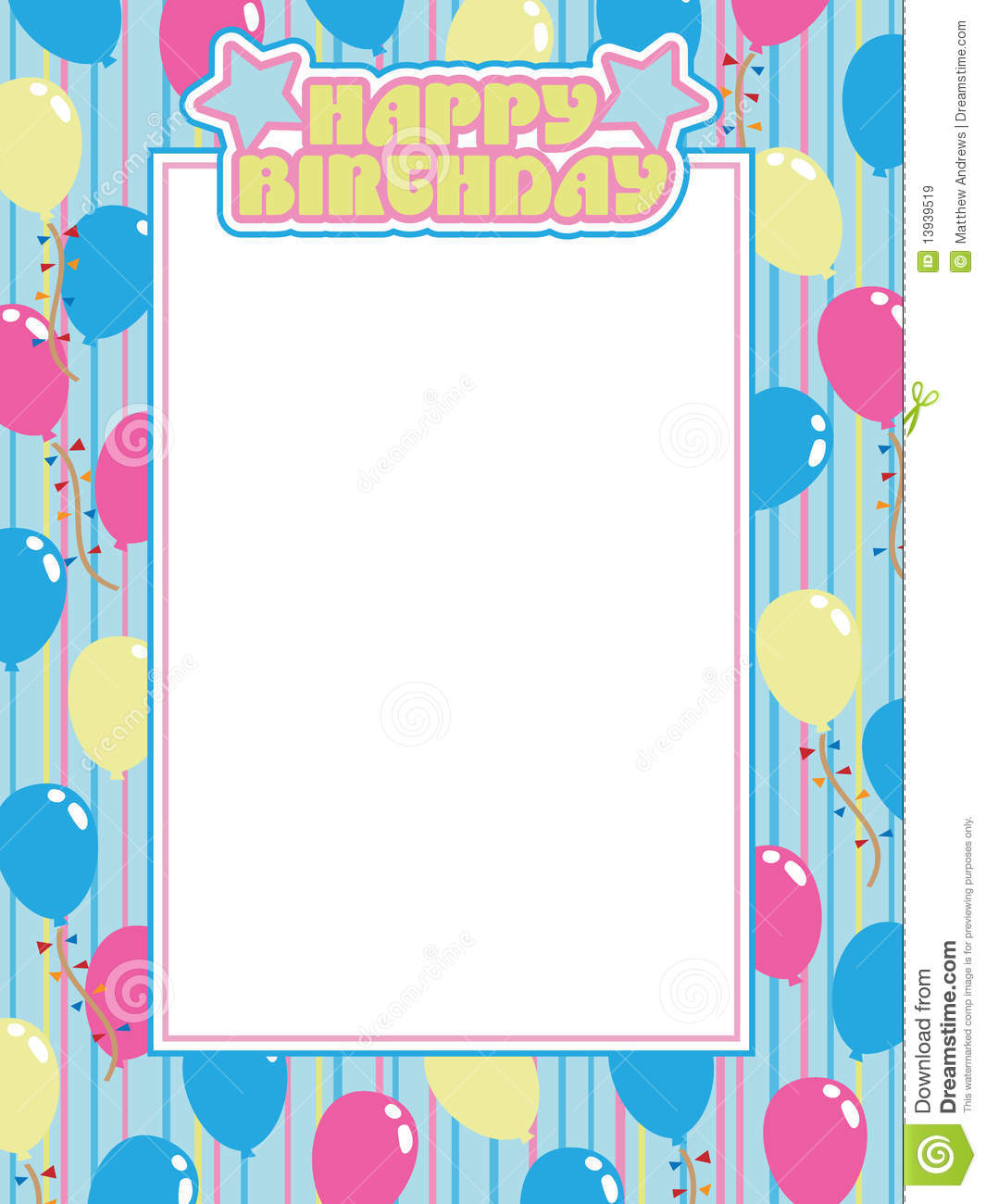 birthday frame royalty free stock images image 13939519