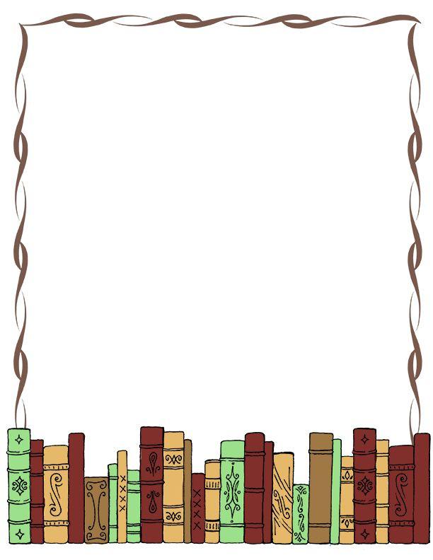 Book Border Clip Art Writingpaper Clip Art Misc Library Clipart