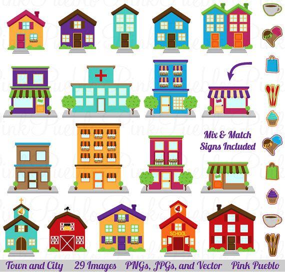 Clip Art Clipart Houses city house clipart kid clip art printable village town clipart