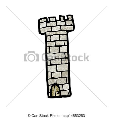 Clip Art Vector Of Cartoon Medieval Tower Csp14853263   Search Clipart