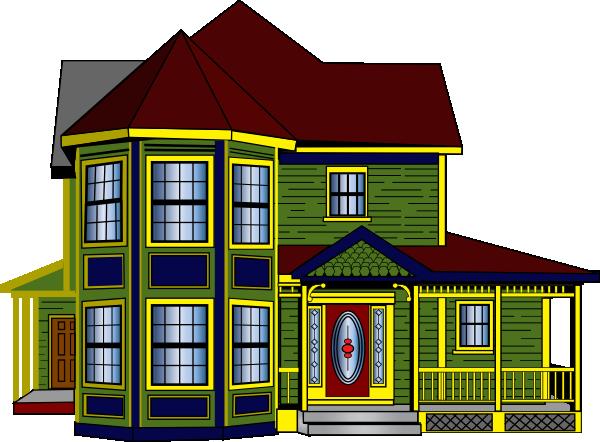 Colorful Cottage Clip Art At Clker Com   Vector Clip Art Online