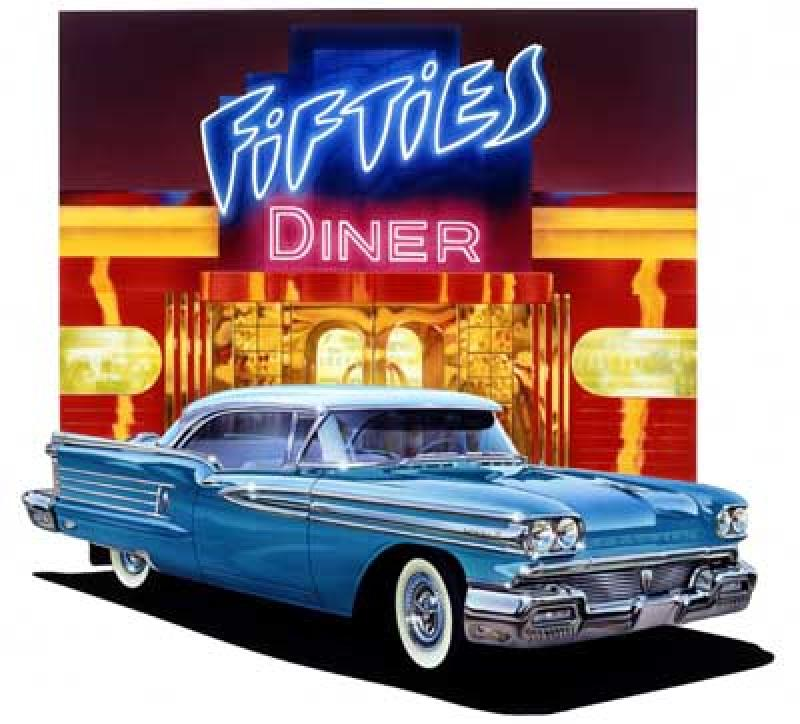 Fifties Diner   Limited Editions   All Artwork   Graham Reynolds