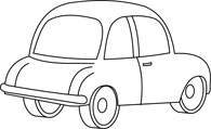 Free Black And White Cars Outline Clipart   Clip Art Pictures
