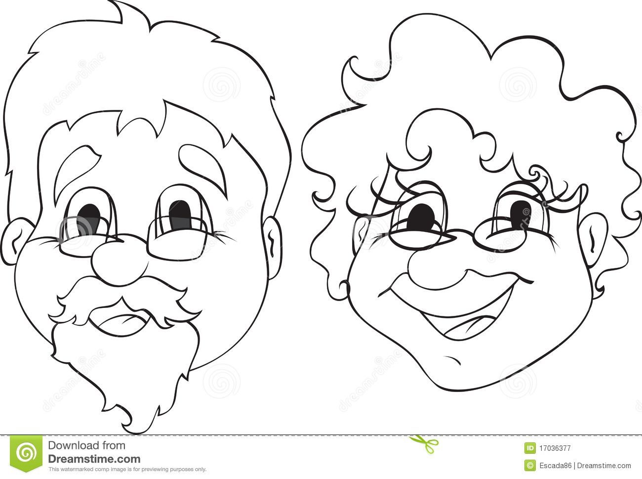 Cute black grandma clipart clipart suggest for Coloring pages for grandparents